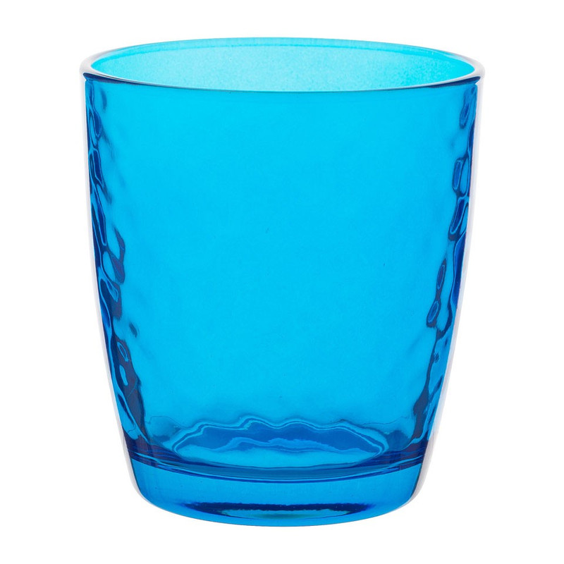Sapglas colourful - 32 cl - blauw - set van 6