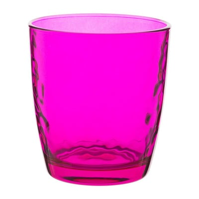 Sapglas colourful - 32 cl - roze - set van 6