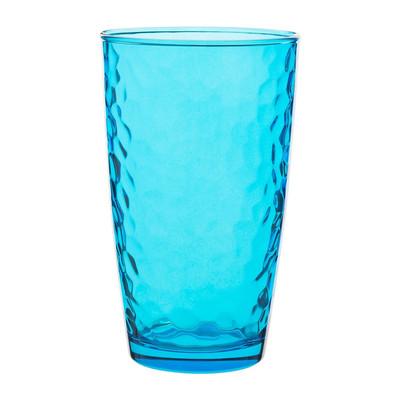 Longdrinkglas colourful - 49 cl - blauw - set van 6
