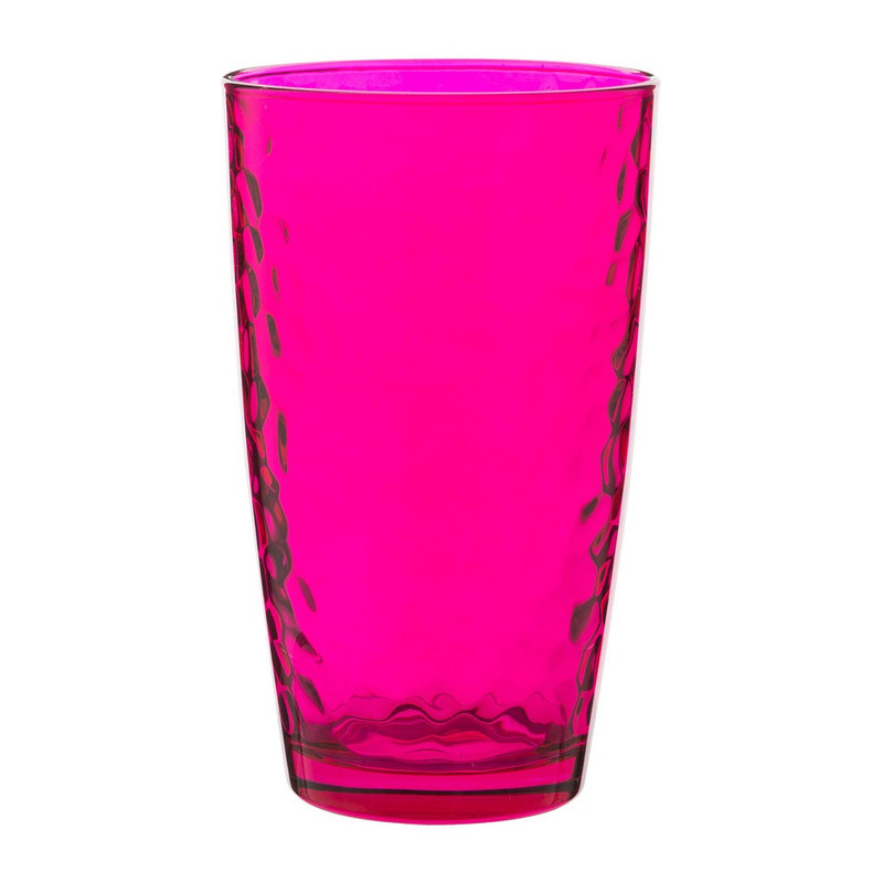 Longdrinkglas colourful - 49 cl - roze - set van 6