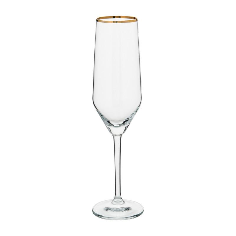 Ritzenhoff champagneglas gouden rand - 25 cl