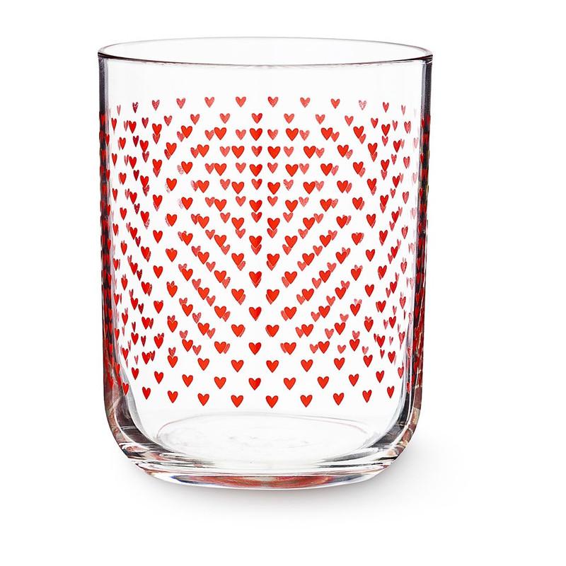 Glas hartje rood - 35 cl