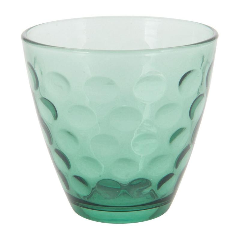 Waterglas Dots - groen - 25 cl