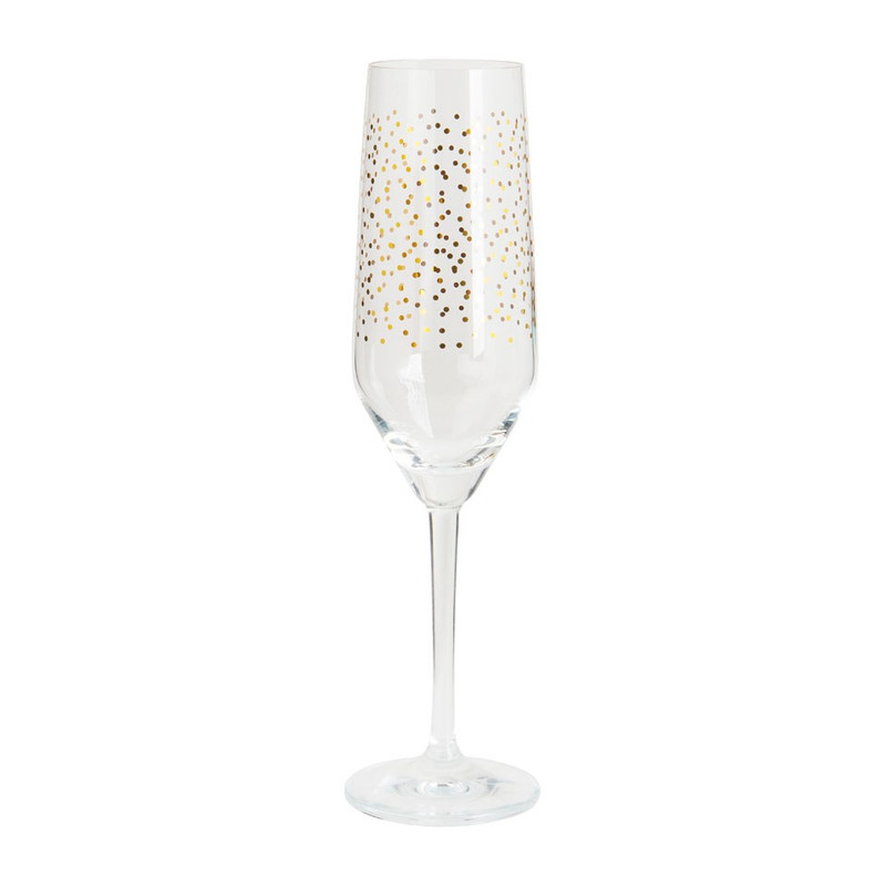 Champagne flute - stip goud - 25 cl
