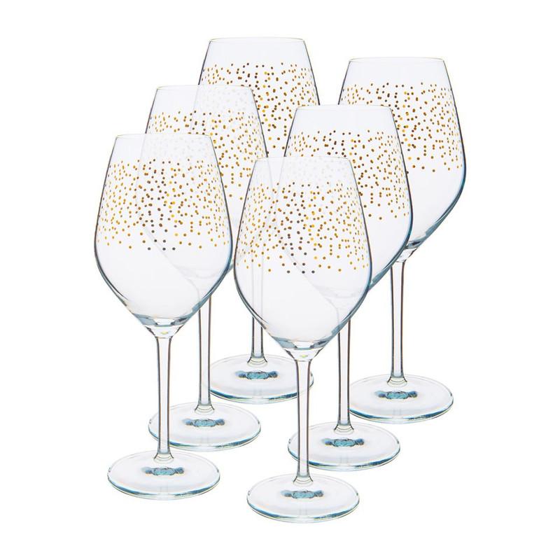 Wijnglas stip - goud - 40 cl