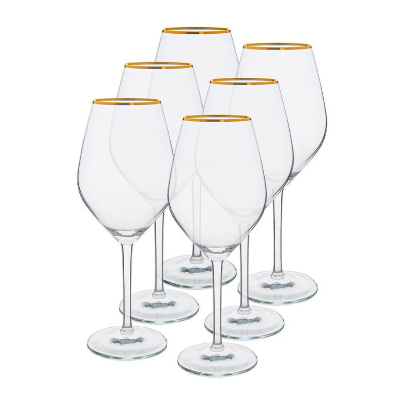 Wijnglas rand - goud -  40 cl