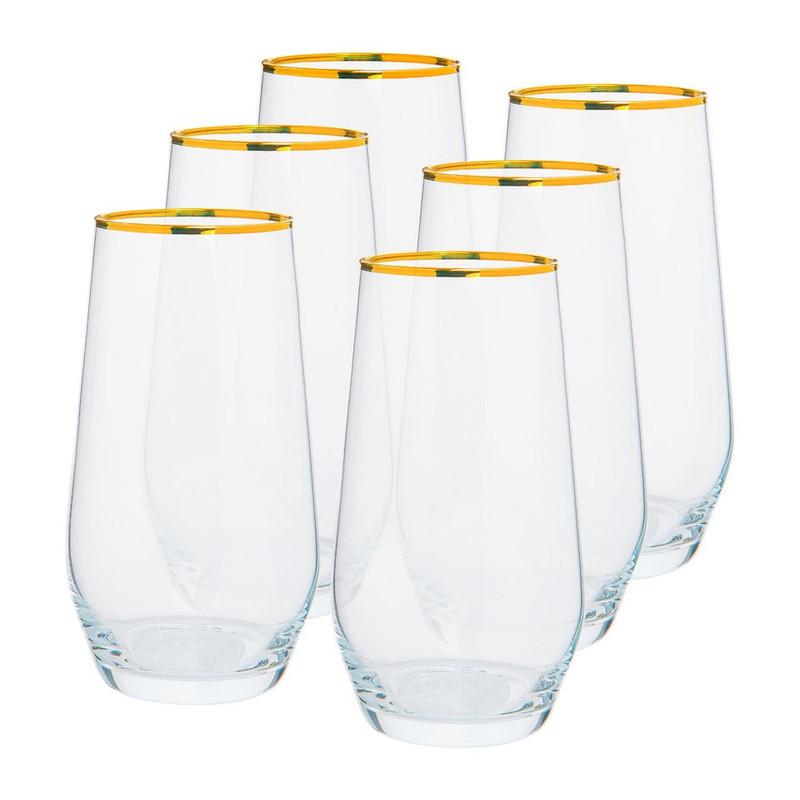 Waterglas rand - goud - 40 cl