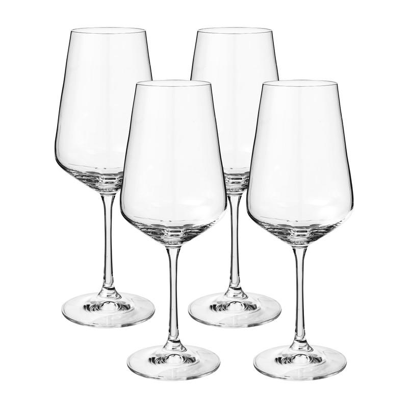 Wijnglas kristal - set van 4 - 450 ml