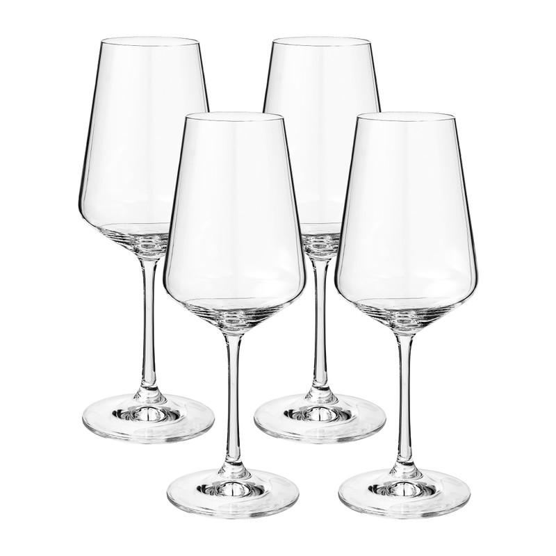 Wijnglas kristal - set van 4 - 350 ml