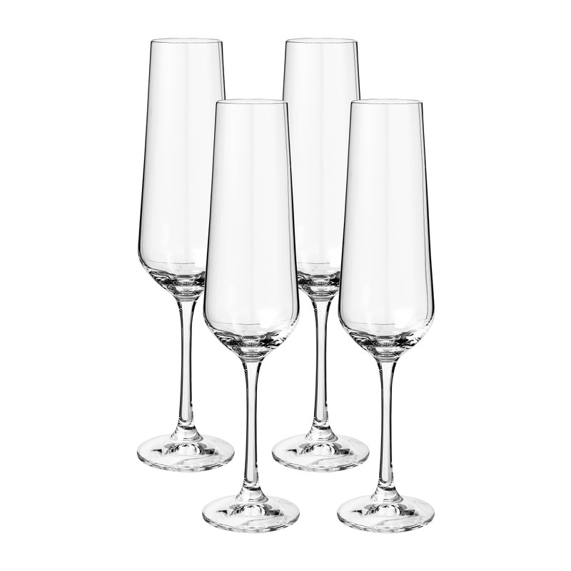 Champagneglas kristal - set van 4 - 200 ml