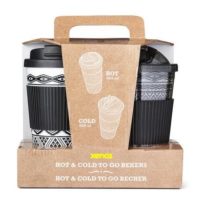 Giftset hot&cold drinks - zwart - set van 2
