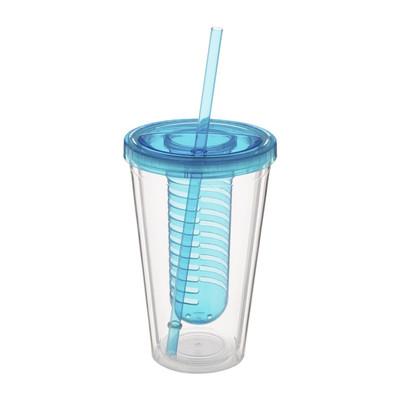 Drinkbeker met infuser - 50 cl - blauw