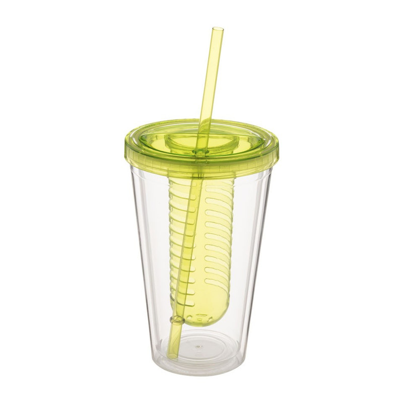 Drinkbeker met infuser - 50 cl - groen