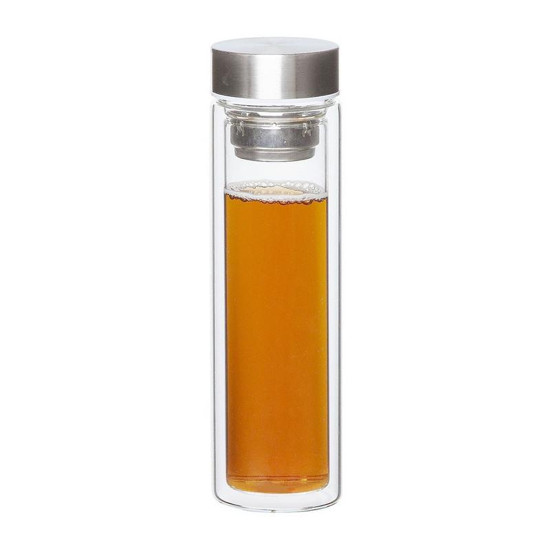 Dubbelwandige fles met rvs deksel - 30 cl