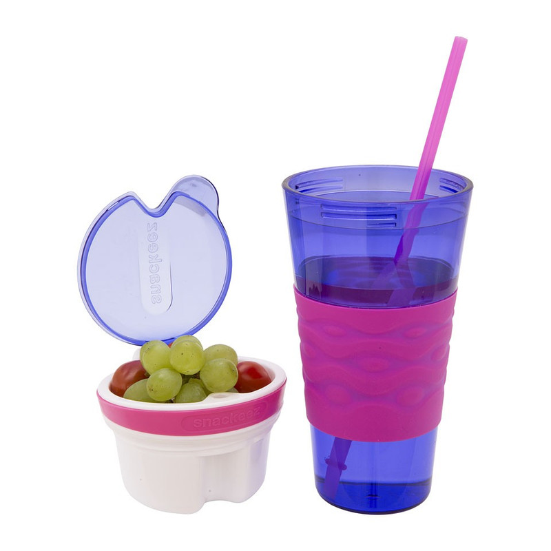 Snackeez snackbeker - 45 cl - paars/roze