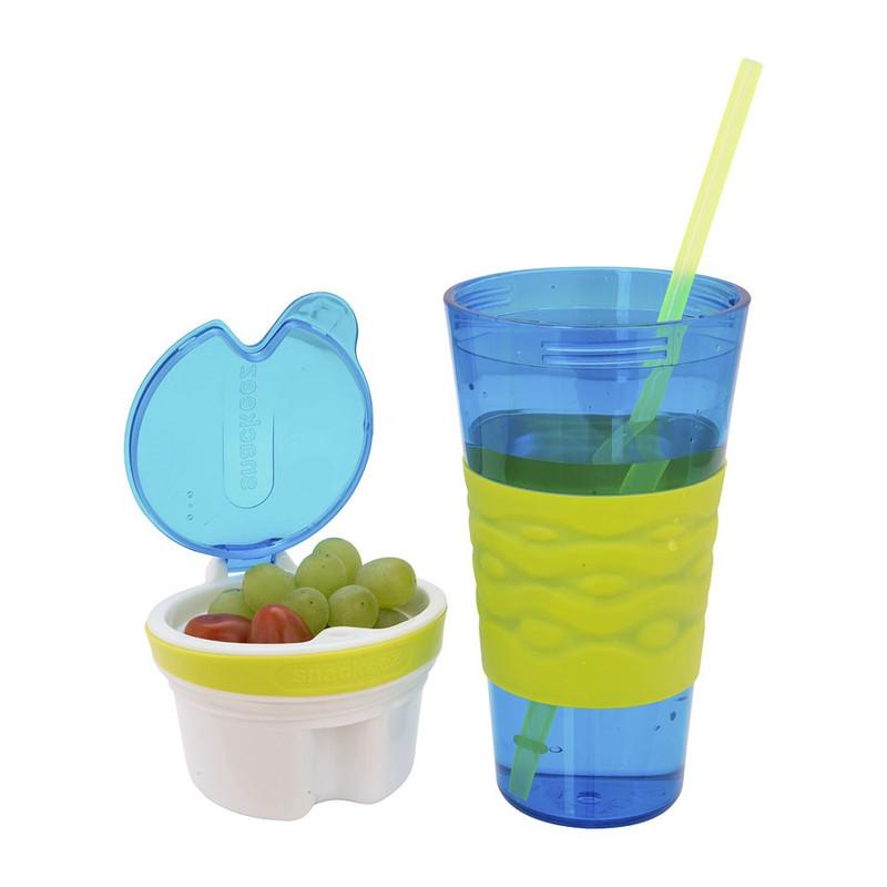 Snackeez snackbeker - 45 cl - blauw/groen