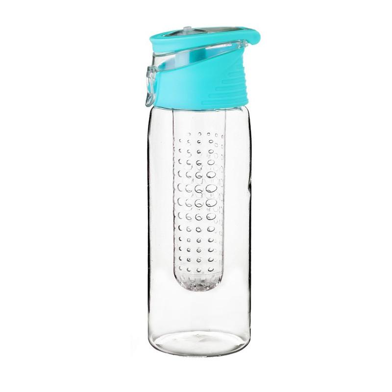 Drinkfles met infuser - 70 cl - blauw