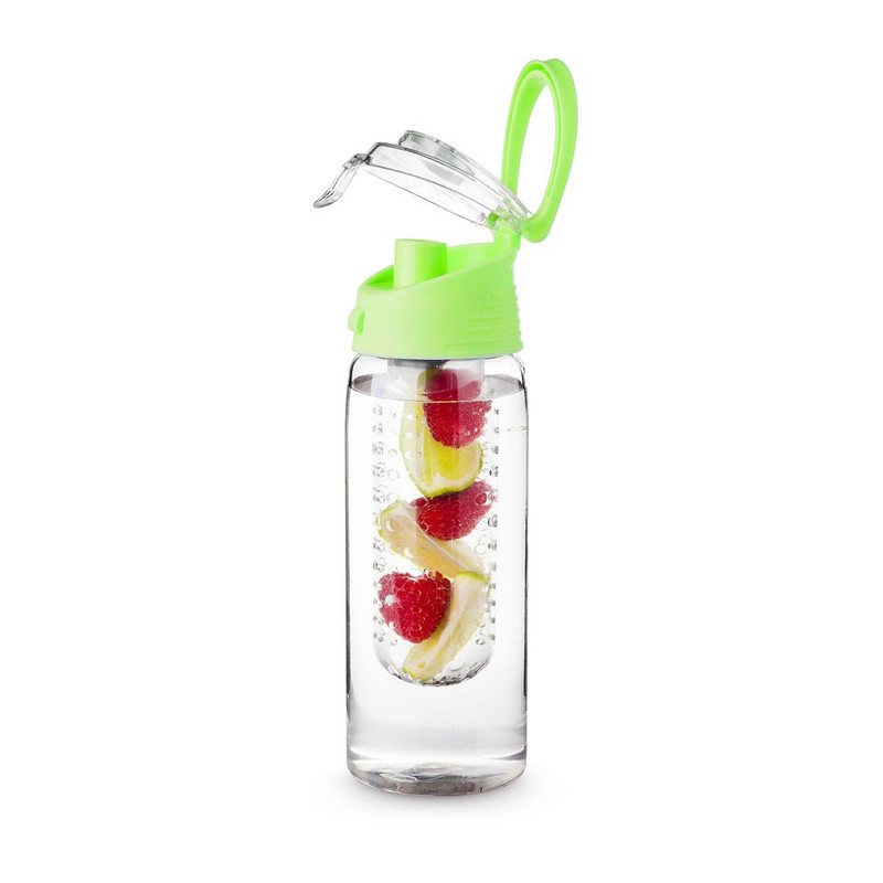 Drinkfles met infuser - 700 ml - groen