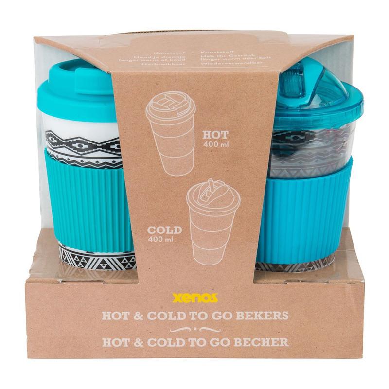 Giftset hot&cold drinks - blauw - set van 2