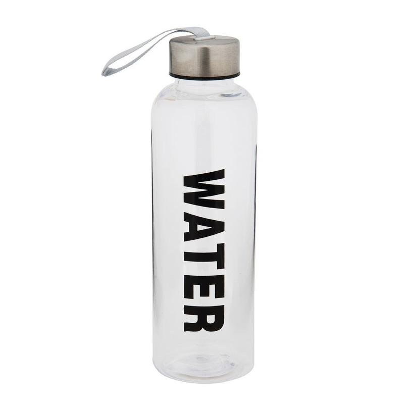 Fles water - 500 ml - zwart