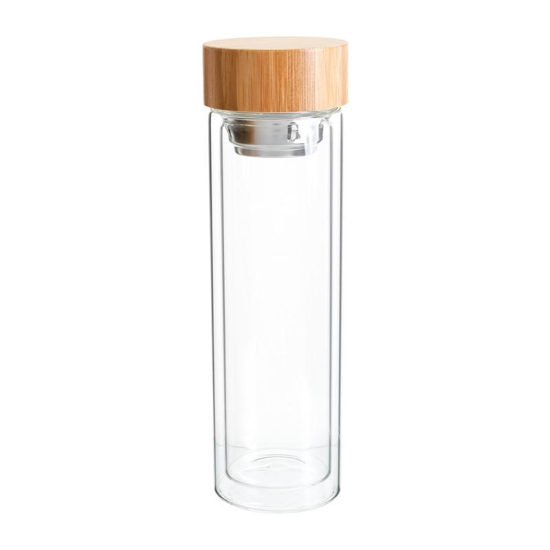 Glazen fles - dubbelwandig - 400 ml