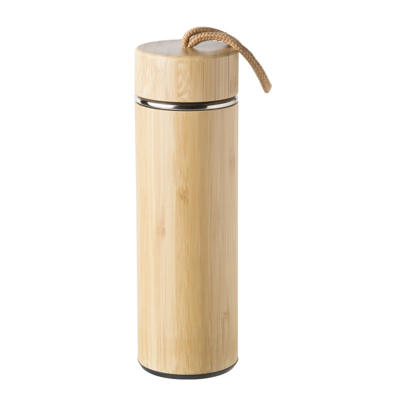 Thermosfles bamboe - 400 ml