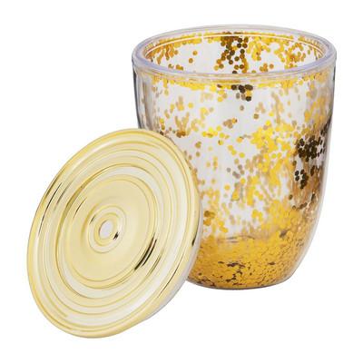 Beker glitter - 350 ml - goud