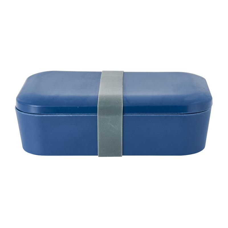 Lunchbox - blauw - 18,5x12,5 x 6,3 cm