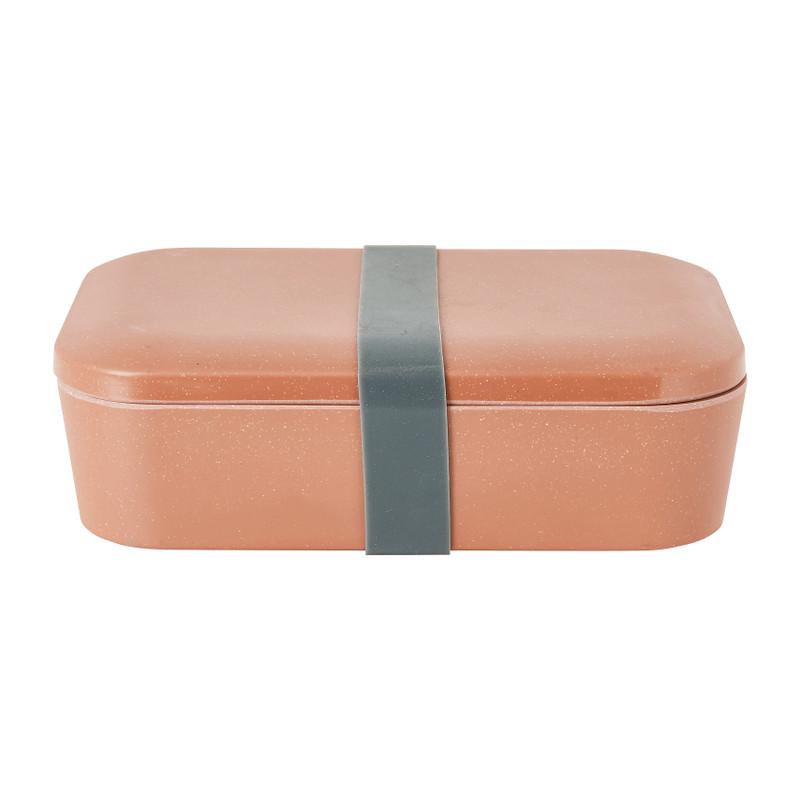 Lunchbox - bruin - 18,5x12,5 x 6,3 cm