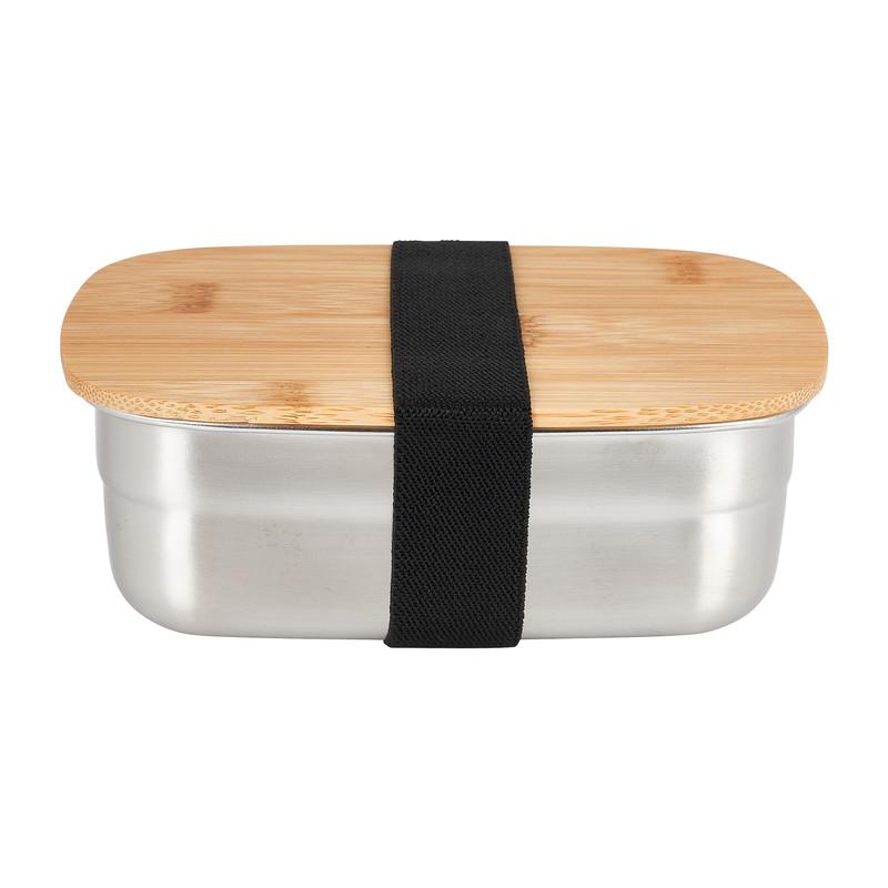 Lunchbox - rvs/bamboe - 14.5x10.5 cm