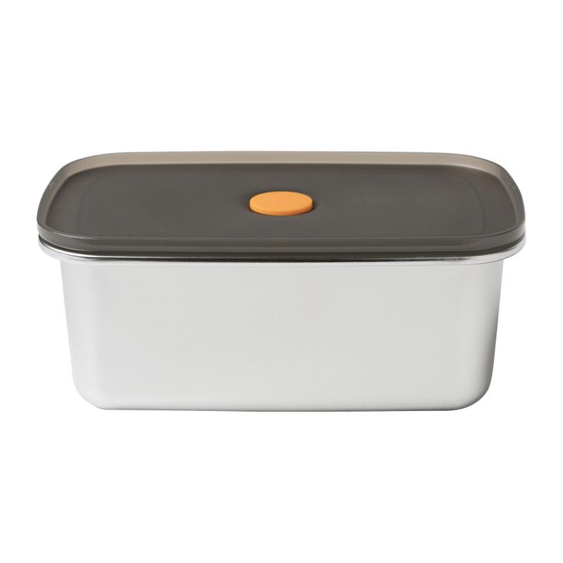 Lunchbox RVS - zilver - 19x11,6x7,8 cm