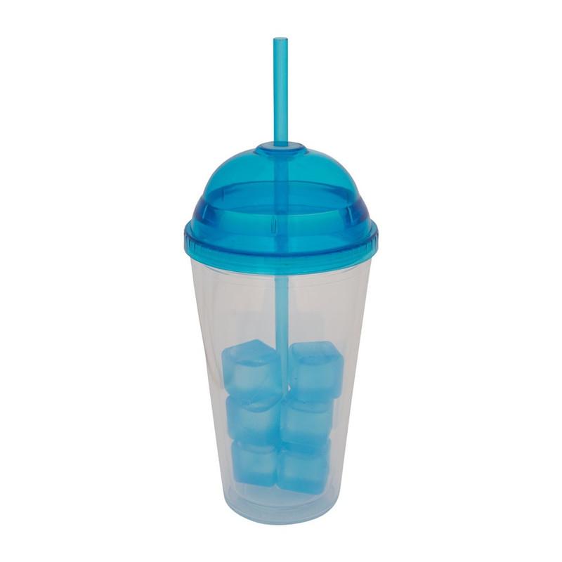 Milkshakebeker - 45 cl - blauw