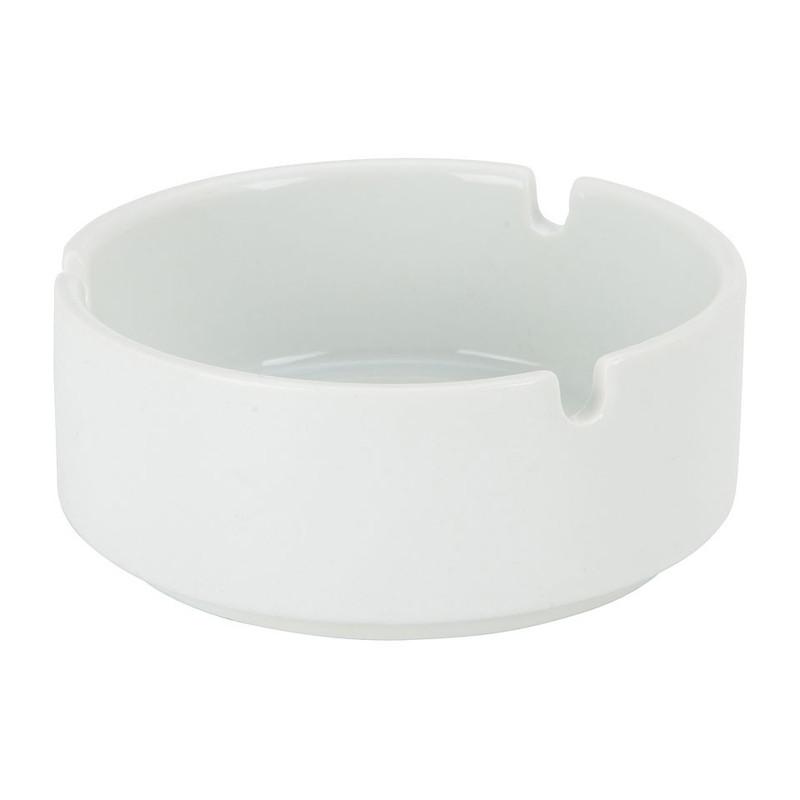 Asbak rond - porselein - wit