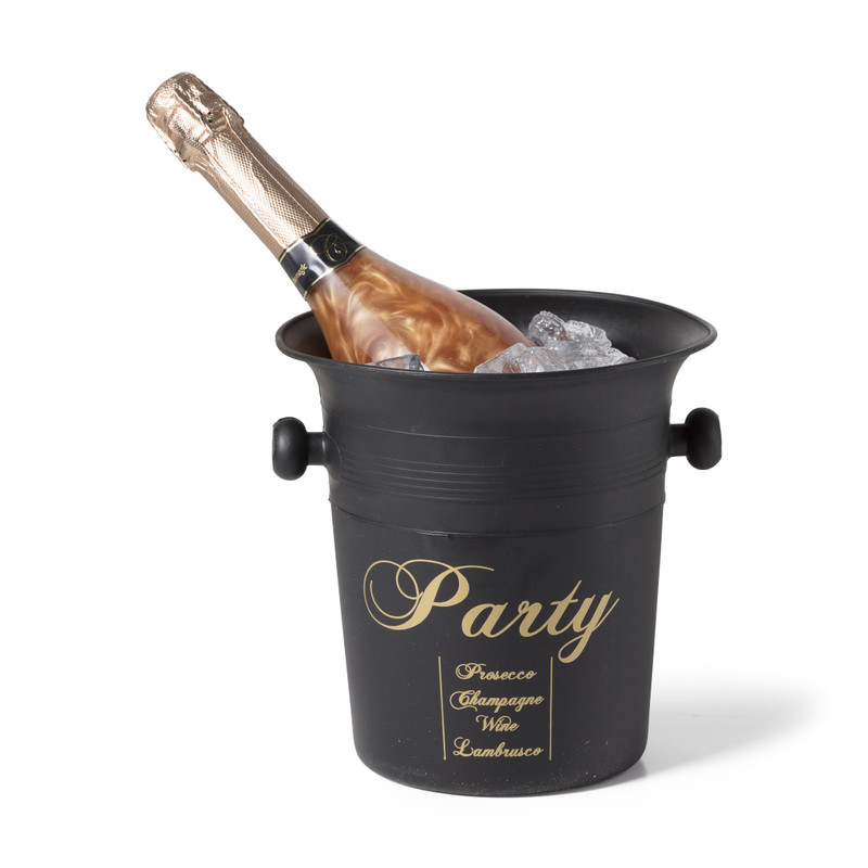 Champagnekoeler - zwart