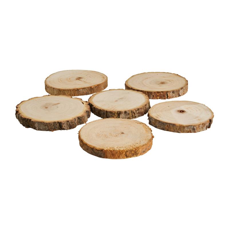 Onderzetter boomstam - 6 stuks