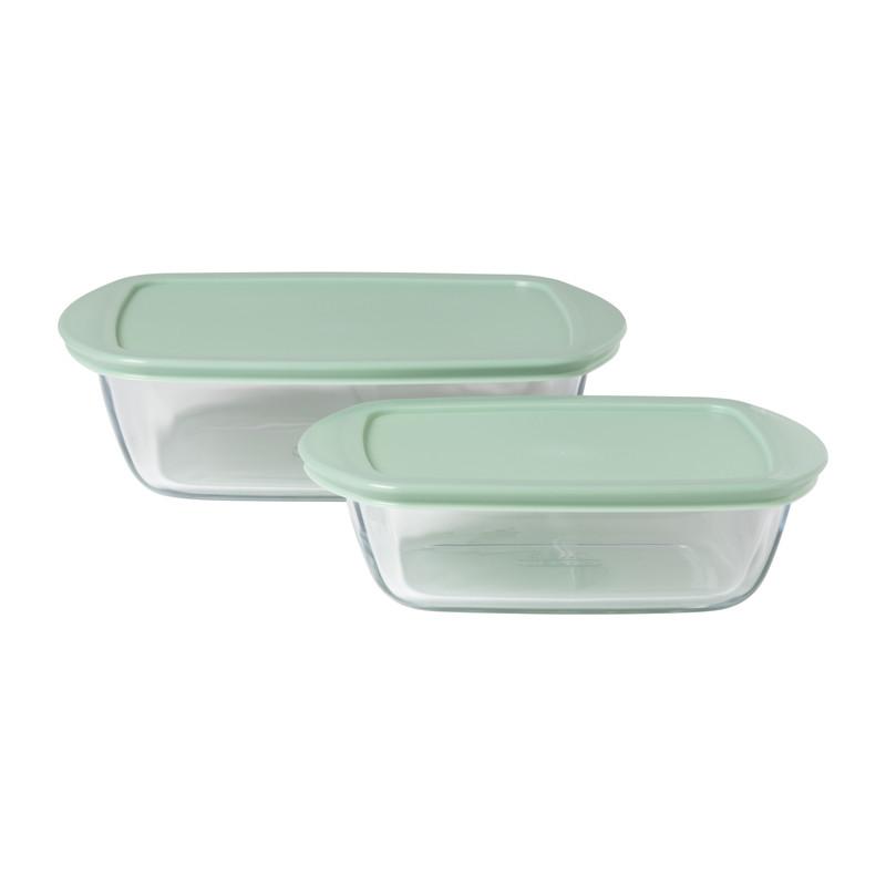 Pyrex ovenschaal - groen - set van 2