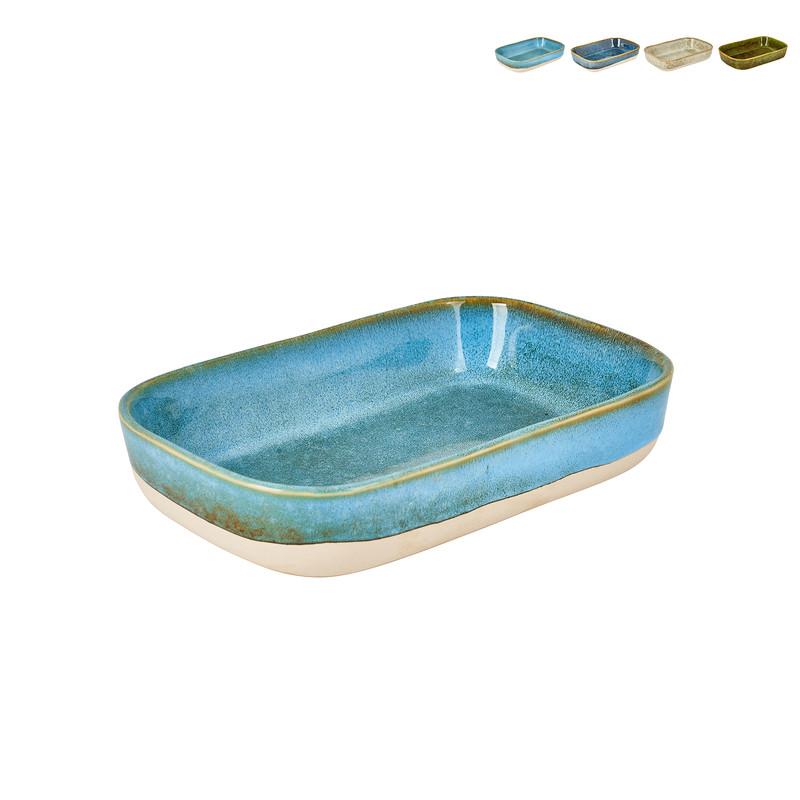 Ovenschaal stoneware - diverse kleuren - 22x15x5 cm