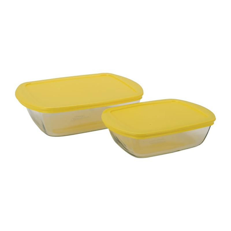 Pyrexschaal geel - set van 2