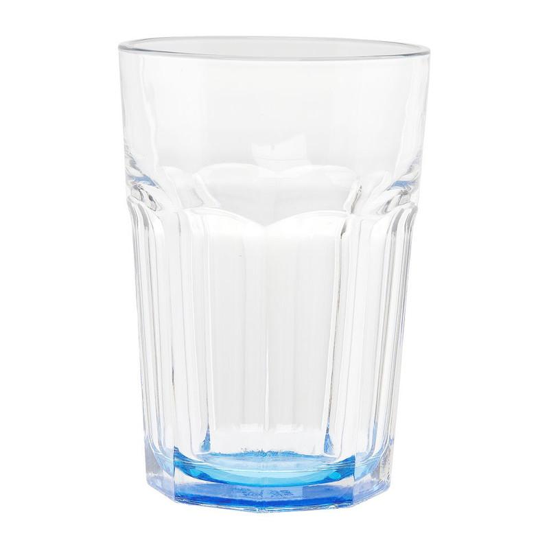 Glas facetten gekleurd blauw