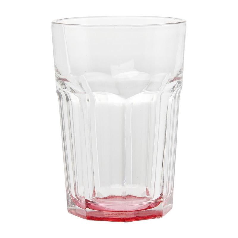 Glas facetten gekleurd roze