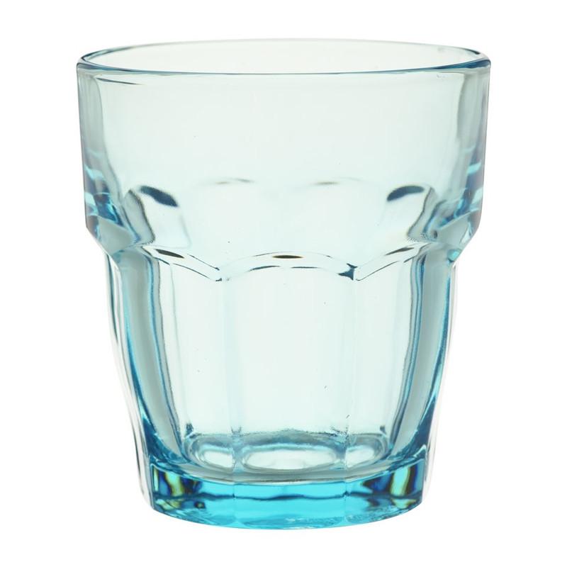 Glas rock bar - 27 cl - blauw