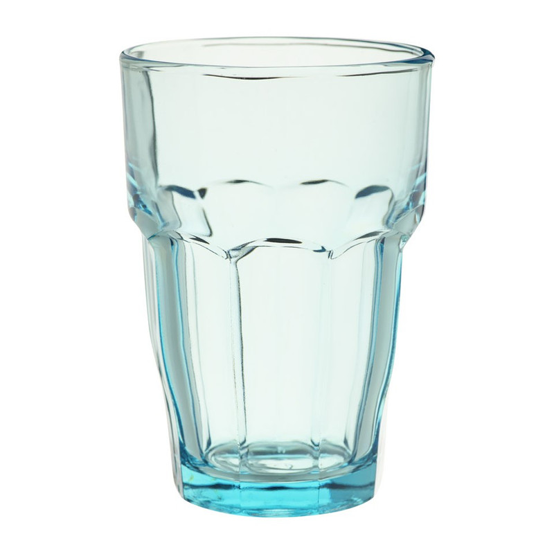 Glas rock bar - 37 cl - blauw
