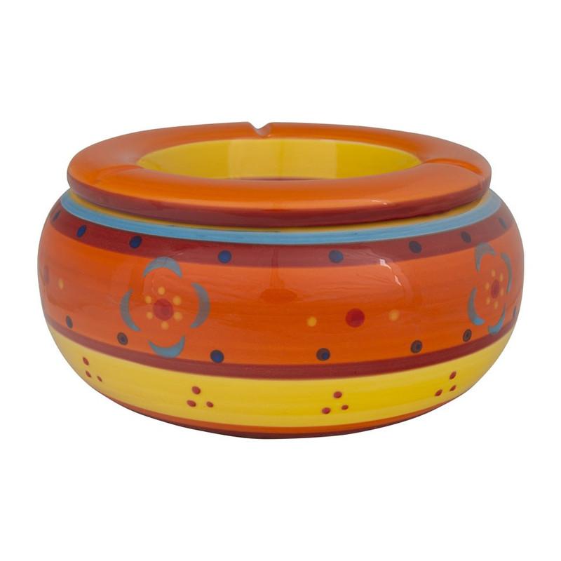 Stormasbak strepen - Ø23 cm - oranje