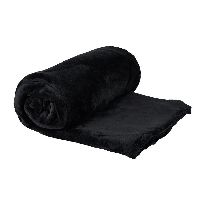 Plaid - zwart - 130x170 cm