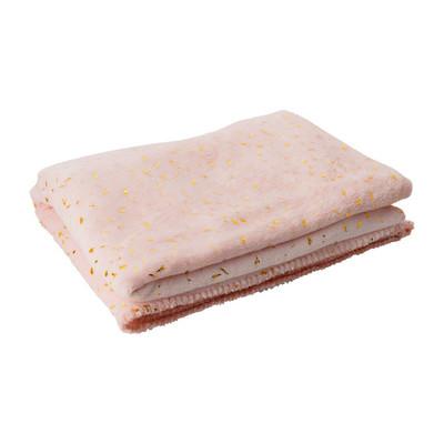 Plaid soft - roze/goudkleurig - 130x170