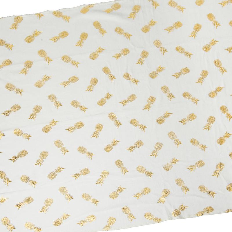 Plaid soft - ananas goud - 170x130 cm