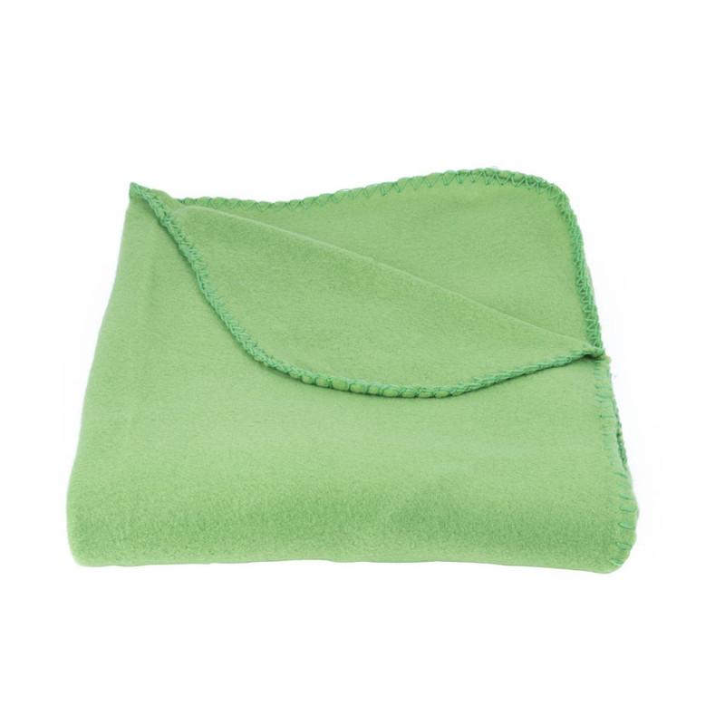 Fleecedeken - groen - 130x170 cm