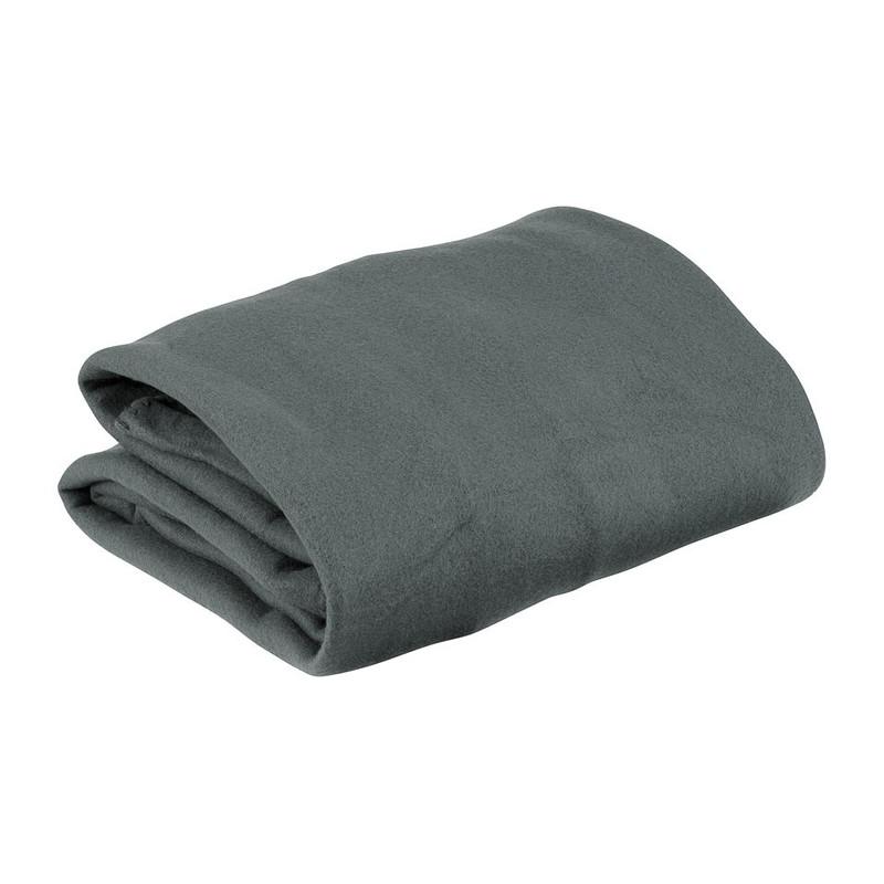 Fleecedeken met mouwen - 136x170 cm - grijs