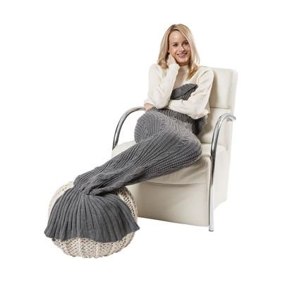 Plaid zeemeermin - grijs