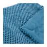 Plaid blokje - blauw - 160x130 cm
